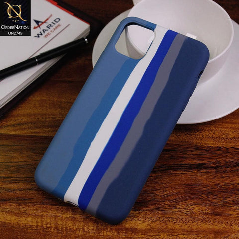iPhone 11 Pro Max Cover - Blue - Rainbow Series Liquid Soft Silicon Case