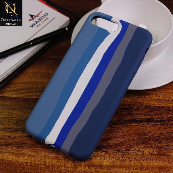 iPhone 8 Plus / 7 Plus Cover - Blue - Rainbow Series Liquid Soft Silicon Case