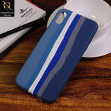 iPhone XS Max Cover - Blue - Rainbow Series Liquid Soft Silicon Case