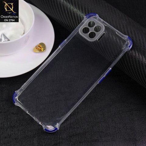 Oppo F17 Pro Cover - Blue - Soft Anti Shock Colorful Corner Back Clear Case