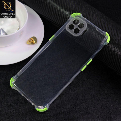 Oppo F17 Pro Cover - Light Green - Soft Anti Shock Colorful Corner Back Clear Case