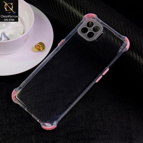 Oppo F17 Pro Cover - Light Pink - Soft Anti Shock Colorful Corner Back Clear Case