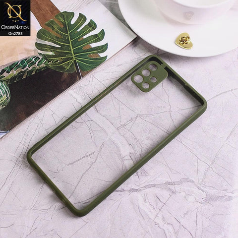 Samsung Galaxy A51 - Green - Camera Protection Shiny Acrylic Anti-Shock Bumper Transparent Back Case
