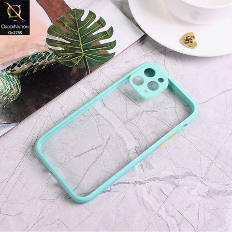 iPhone 11 Pro Max - Sea Green - Camera Protection Shiny Acrylic Anti-Shock Bumper Transparent Back Case