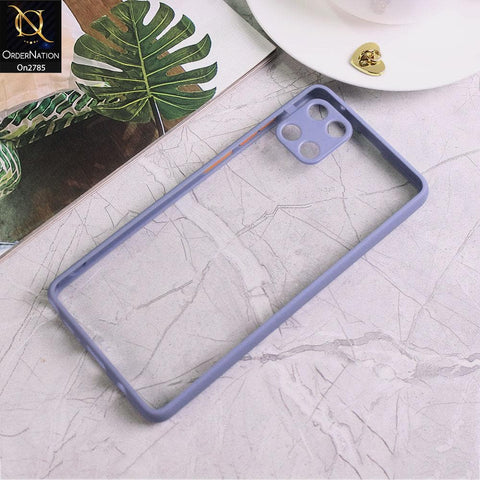 Samsung Galaxy A81 - Gray - Camera Protection Shiny Acrylic Anti-Shock Bumper Transparent Back Case