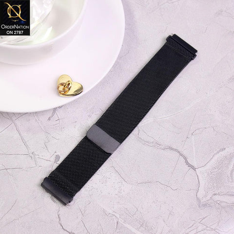 Watch Strap Samsung Galaxy Gear S3 - 46 mm - Black - Milanese Loop Magnetic Watch Strap