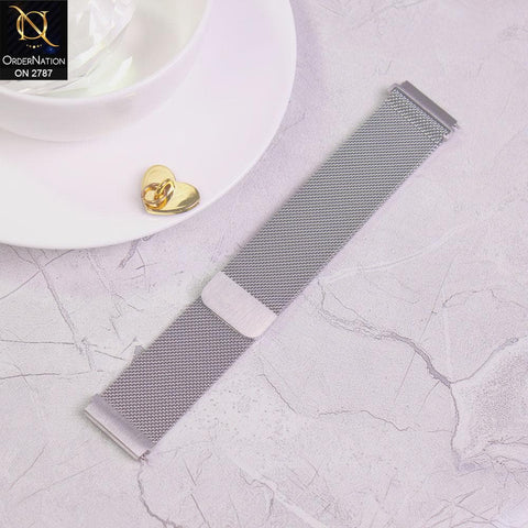Watch Strap Samsung Galaxy Gear S3 - 46 mm - Light Gray - Milanese Loop Magnetic Watch Strap