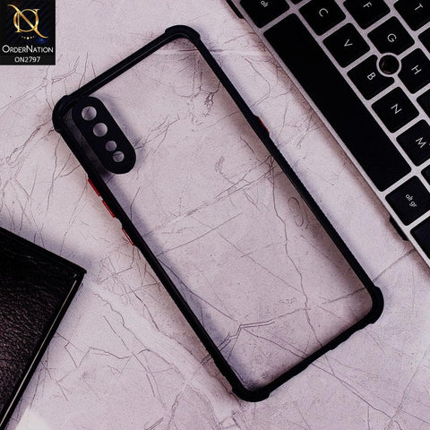 Vivo S1 Cover - Black - Camera Protection Shiny Acrylic Anti-Shock Bumper Clear Case