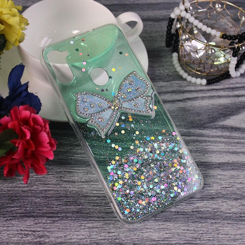 Samsung Galaxy M11 - Green - New Trendy Rhinestone Butterfly Brouge Soft Case