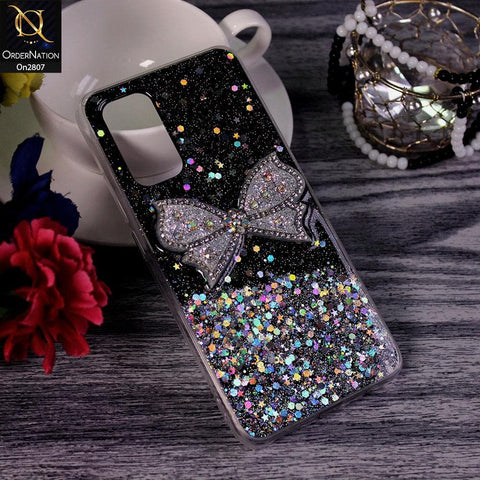Samsung Galaxy A51 - Black - New Trendy Rhinestone Butterfly Brouge Soft Case