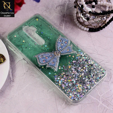 Oppo A9 2020 - Green - New Trendy Rhinestone Butterfly Brouge Soft Case