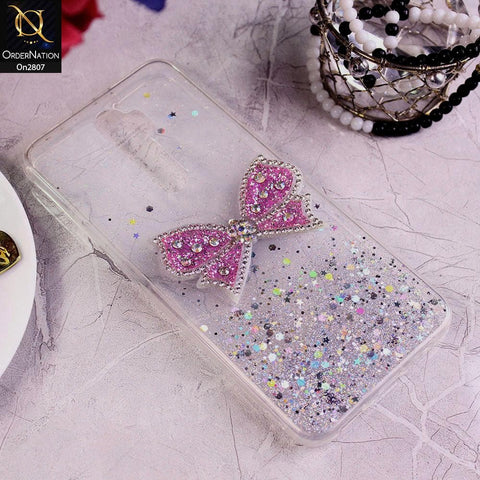 Oppo A5 2020 - Silver - New Trendy Rhinestone Butterfly Brouge Soft Case