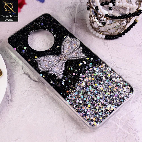 Infinix Note 7 - Black - New Trendy Rhinestone Butterfly Brouge Soft Case