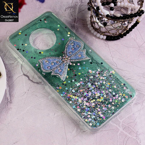 Infinix Note 7 - Green - New Trendy Rhinestone Butterfly Brouge Soft Case