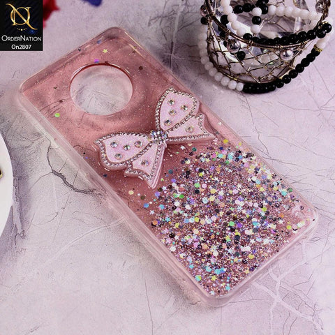 Infinix Note 7 - Pink - New Trendy Rhinestone Butterfly Brouge Soft Case