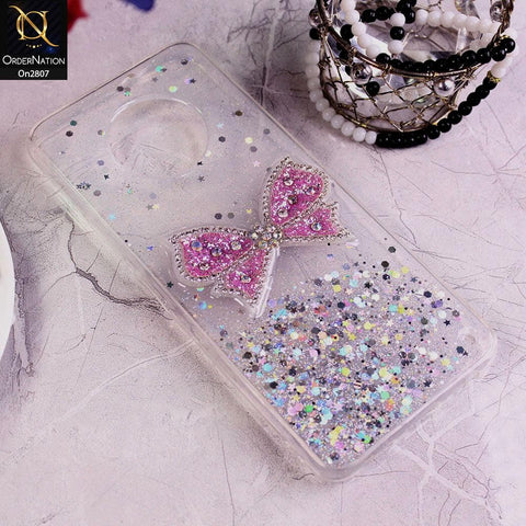 Infinix Note 7 - Silver - New Trendy Rhinestone Butterfly Brouge Soft Case