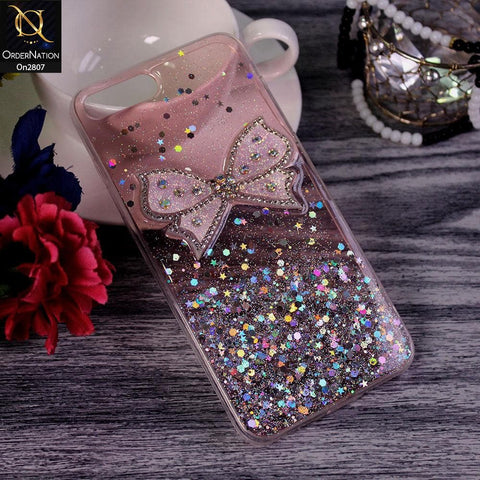 iPhone 8 Plus / 7 Plus - Pink - New Trendy Rhinestone Butterfly Brouge Soft Case