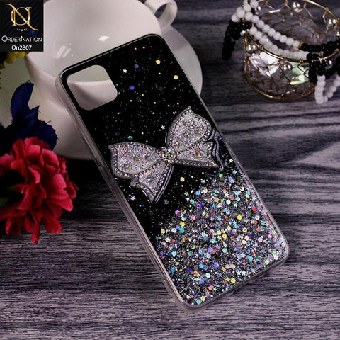 Realme C11 - Black - New Trendy Rhinestone Butterfly Brouge Soft Case