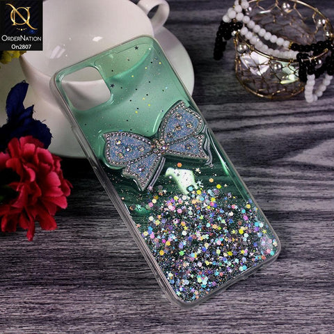 Realme C11 - Green - New Trendy Rhinestone Butterfly Brouge Soft Case