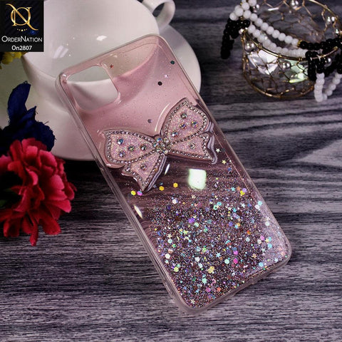 Realme C11 - Pink - New Trendy Rhinestone Butterfly Brouge Soft Case