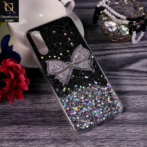 Xiaomi Redmi 9i - Black - New Trendy Rhinestone Butterfly Brouge Soft Case