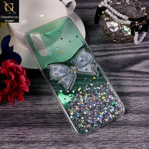 Xiaomi Redmi 9i - Green - New Trendy Rhinestone Butterfly Brouge Soft Case