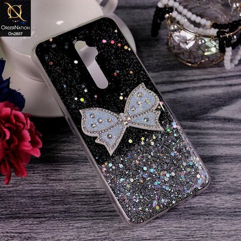 Oppo Reno 2Z - Black - New Trendy Rhinestone Butterfly Brouge Soft Case