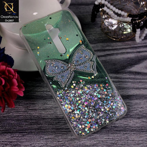Oppo Reno 2Z - Green - New Trendy Rhinestone Butterfly Brouge Soft Case
