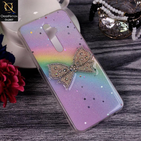 Oppo Reno 2Z - Multi - New Trendy Rhinestone Butterfly Brouge Soft Case