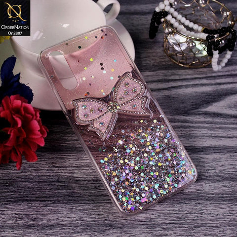 Vivo S1 - Pink - New Trendy Rhinestone Butterfly Brouge Soft Case