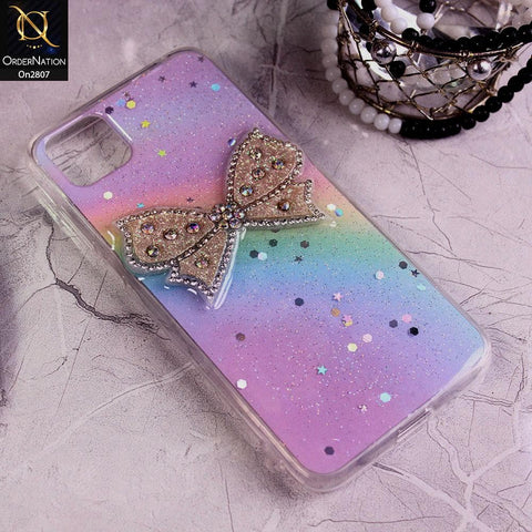Huawei Y5p - Multi - New Trendy Rhinestone Butterfly Brouge Soft Case