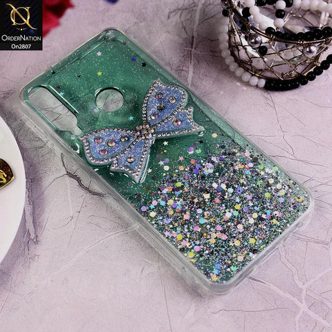 Huawei Y6p - Green - New Trendy Rhinestone Butterfly Brouge Soft Case