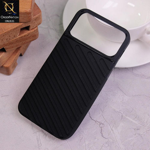 iPhone 11 Pro Max Cover - Black - New Stylish Diagonal lines Pattern Soft Case