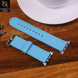 Apple Watch Series 5 (44mm) Strap - Sky Blue - Colorfull Leather Series Watch Strap - (Watch not included)