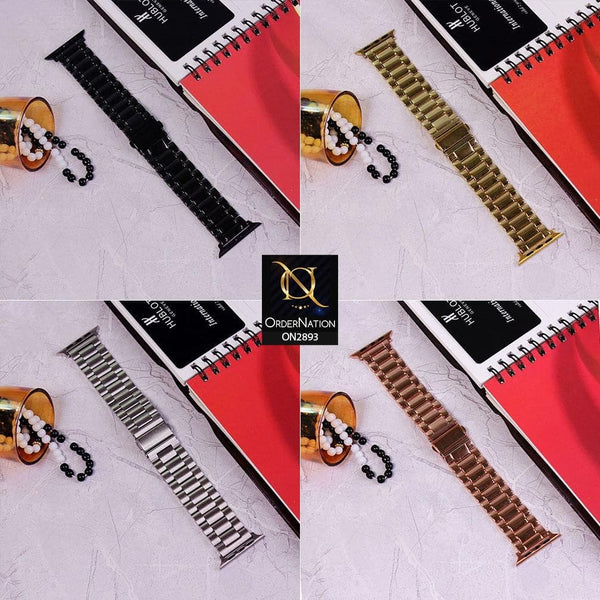 Apple Watch Series 3 (42mm) Strap - Golden - Metal Stainless Steel Chain Strap Watch