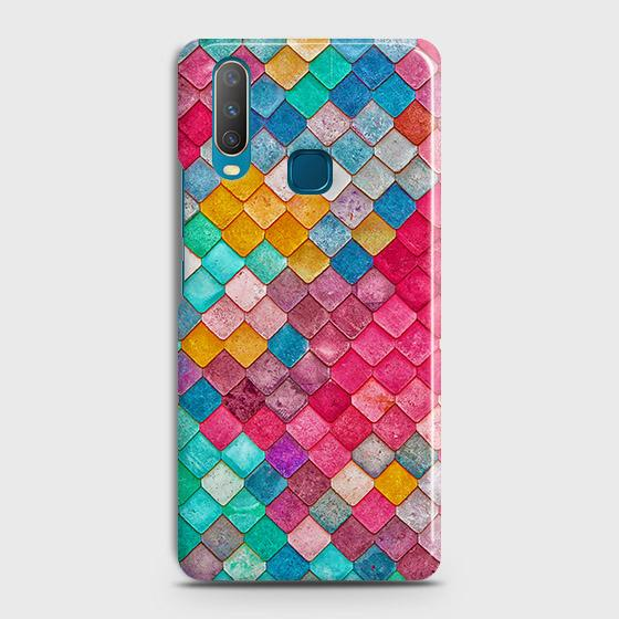 vivo Y12 Cover - Chic Colorful Mermaid Printed Hard Case with Life Time Colors Guarantee
