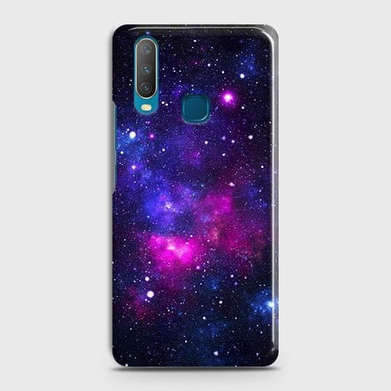 vivo Y12 Cover - Dark Galaxy Stars Modern Printed Hard Case with Life Time Colors Guarantee
