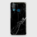 vivo Y12 Cover - Black Modern Classic Marble Printed Hard Case with Life Time Colors Guarantee