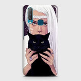vivo Y15 Cover - Trendy Wild Black Cat Printed Hard Case with Life Time Colors Guarantee