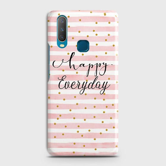 vivo Y15 Cover - Trendy Happy Everyday Printed Hard Case with Life Time Colors Guarantee