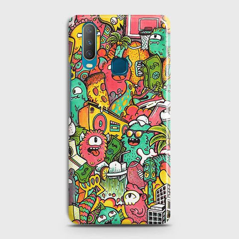 Candy Colors Trendy Sticker Bomb Case For vivo Y15