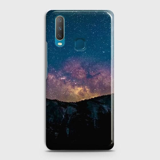 vivo Y15 Cover - Embrace Dark Galaxy  Trendy Printed Hard Case with Life Time Colors Guarantee