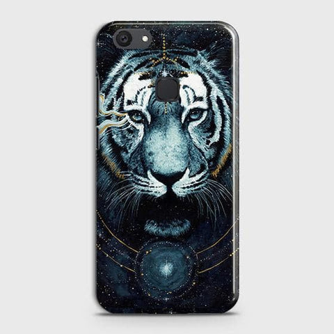vivo Y81 Cover - Vintage Galaxy Tiger Printed Hard Case with Life Time Colors Guarantee