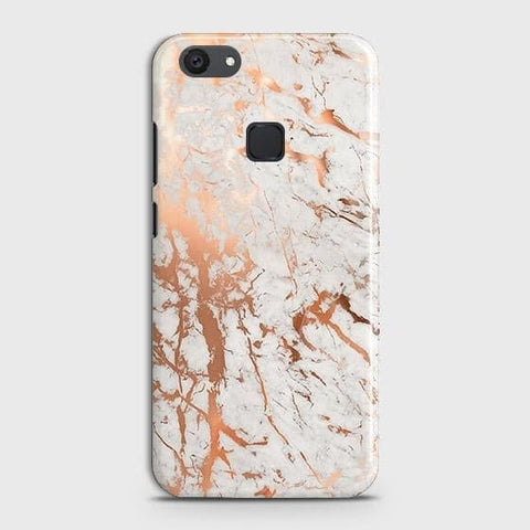 vivo Y81 Cover - In Chic Rose Gold Chrome Style Printed Hard Case with Life Time Colors Guarantee