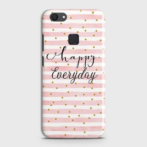 vivo Y81 Cover - Trendy Happy Everyday Printed Hard Case with Life Time Colors Guarantee