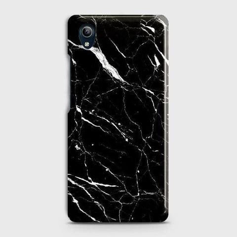 Trendy Black Marble Case For vivo Y91C