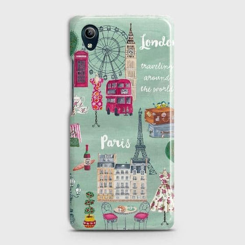 vivo Y91C Cover - London, Paris, New York ModernPrinted Hard Case with Life Time Colors Guarantee