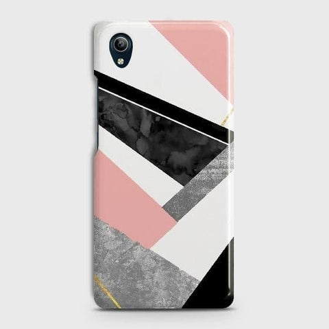 Geometric Luxe Marble Trendy Case For vivo Y91C