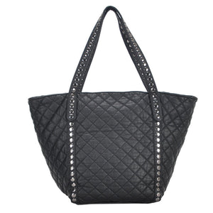 Mechaly Women's Ivy Black Vegan Leather Tote Handbag-AllEthical.com - The Vegan Shop
