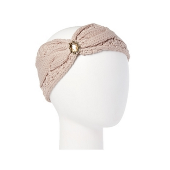 Mechaly Women's Knit Winter Taupe Vegan Headband-AllEthical.com - The Vegan Shop